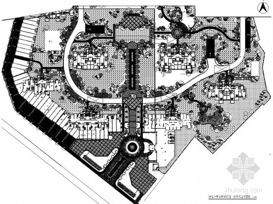 [杭州]高档住宅小区景观规划设计平面施工图