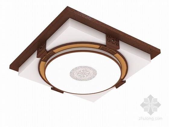 现代中式吸顶灯3D模型下载