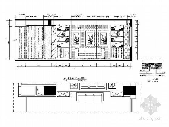 [武汉]现代矿业集团办公楼装修图(含效果)董事长办公室立面图