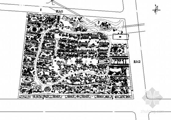 [武汉]小区景观规划设计平面图