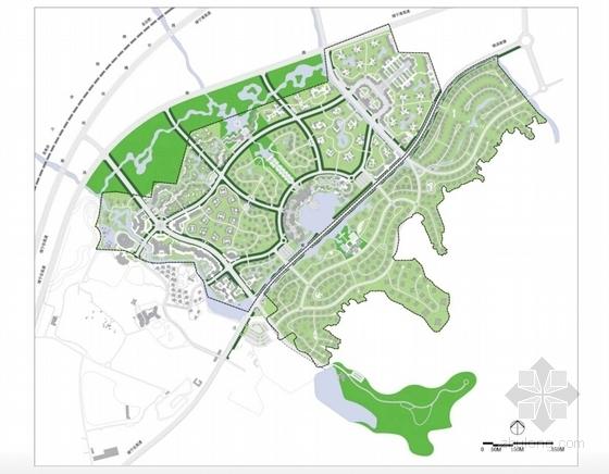 [江苏]国际级综合性旅游度假区景观规划方案-绿化系统结构