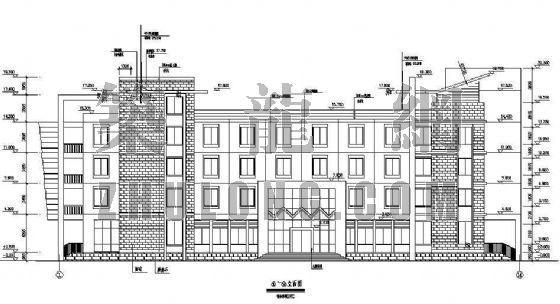 四层办公楼建筑施工图