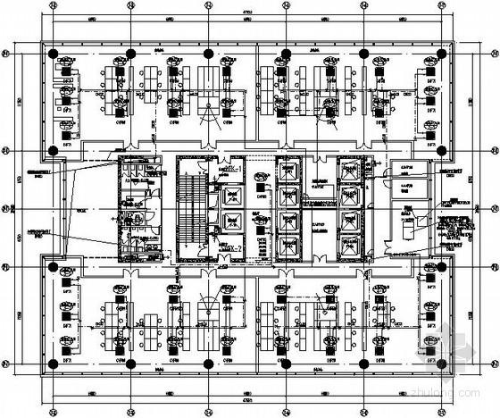 [江苏]40万平金融街空调通风全套施工图纸376张(7栋建筑 大样多)