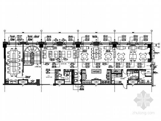 [上海]现代简约酒店休闲区设计CAD施工图