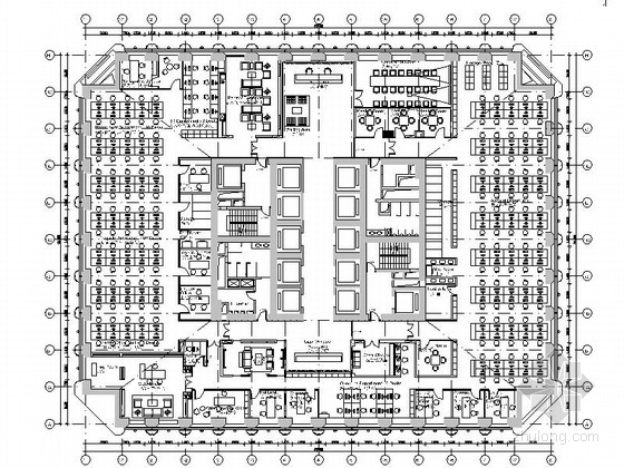 [广州]某现代风格贸易公司办公室室内装修施工图(含效果和预算)