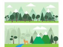 33张插画风植物素材ai格式