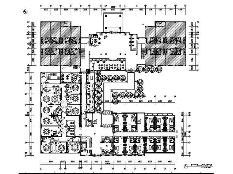 [宜兴]新中式豪华独立山庄酒店室内设计施工图(含效果图)