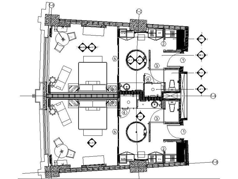 [苏州]知名设计公司酒店客房设计施工图(含效果图)
