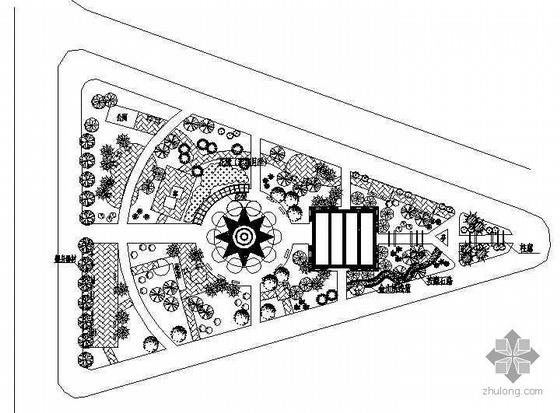 iisb2008:[施工图][辽宁]某市三角公园改造设计平面——[辽宁]某市图片