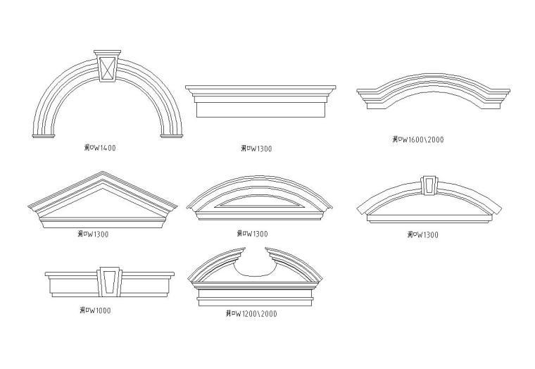 46个欧式门窗节点构造详图——建筑详图