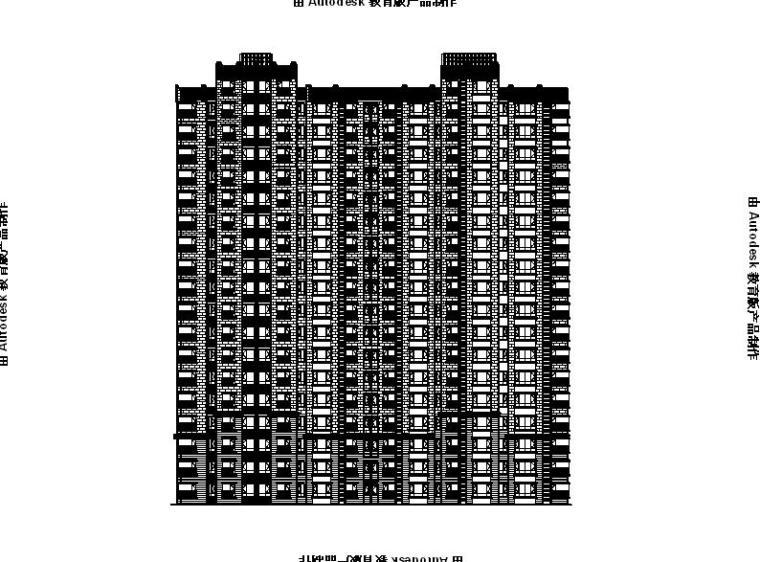 [宁夏]高层框剪结构住宅建筑施工图(含效果图及计算书)