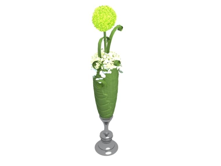 欧式花瓶3D模型下载