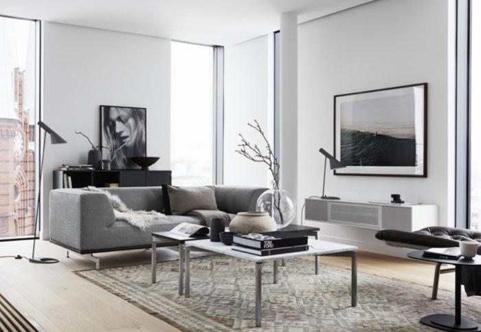 瑞典灰色调空间的住宅