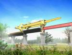 桥梁工程架桥机施工动画演示