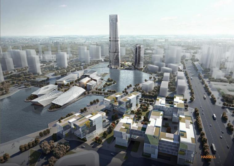 [广东]现代风格镂空立面市民文化中心建筑设计方案文本