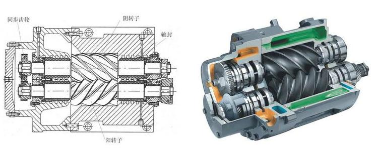 uasb工作原理示意图资料下载-(动态图片)螺杆压缩机工作原理、结构~~~