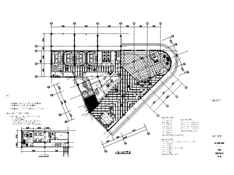 [厦门]整套大型时尚KTV设计CAD施工图(含效果图)