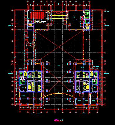 华东设计院--某知名大型金融中心归档建筑施工动漫设计图教程图片