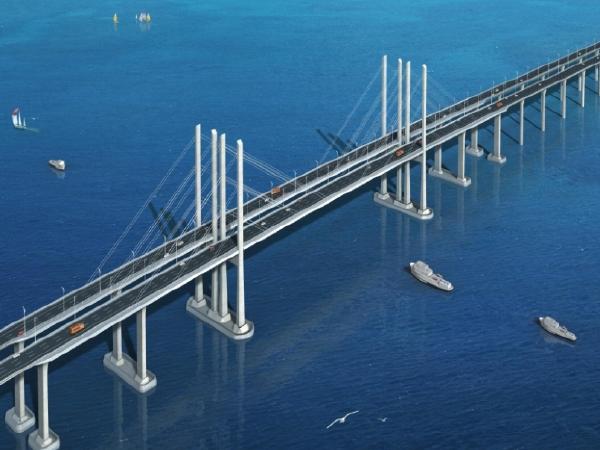 跨路施工技术方案资料下载-胶州湾跨海大桥设计关键施工技术