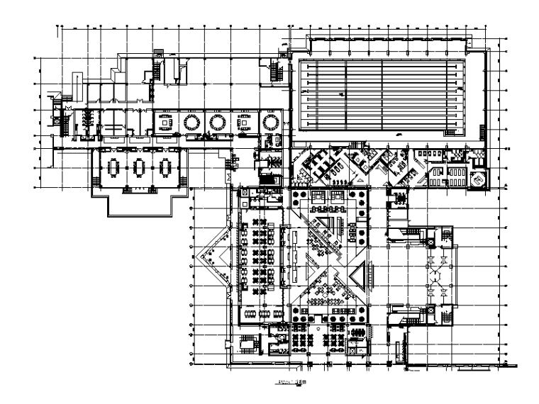 [陕西]园林式酒店餐厅设计CAD施工图