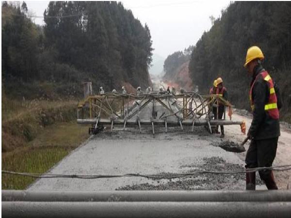 水泥混凝土路面施工工艺流程