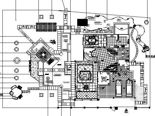某别墅庭院景观设计施工图