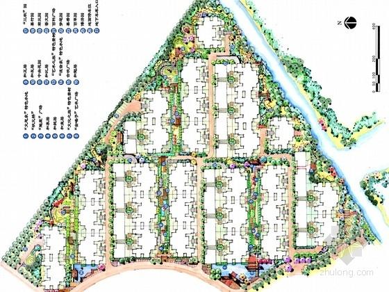 [江苏]后现代主义滨水高档居住区景观规划设计方案