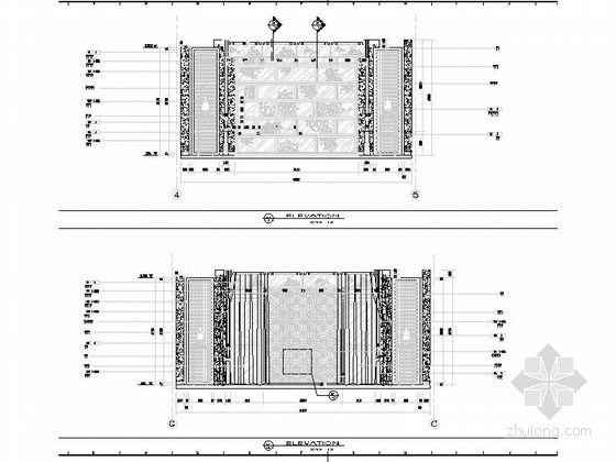 [浙江]现代风格三层别墅室内装修施工图立面图