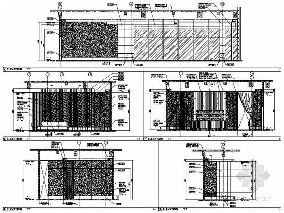 [厦门]中央商务区五星级豪华酒店装修图(含效果)大堂酒吧立面图