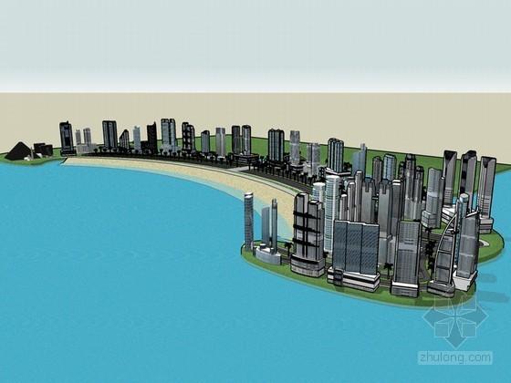 海湾建筑SketchUp模型下载