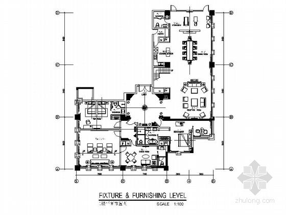 [湖南]气质范法式私人会所室内设计CAD施工图