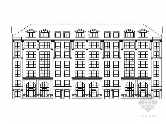 [吉林]新古典住宅区规划及单体设计方案图