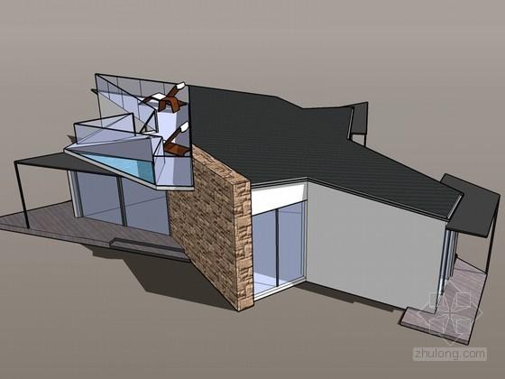 异形住宅SketchUp模型下载