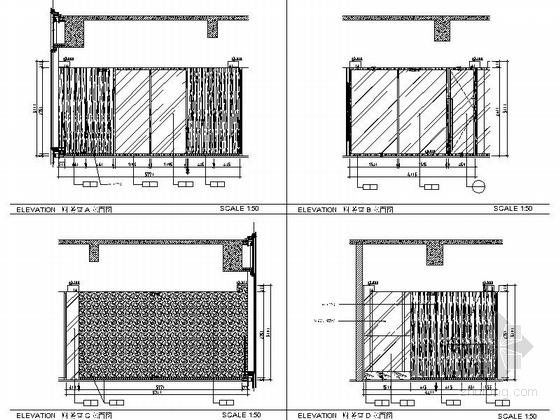 [佛山]现代高端甲级写字楼大小样板间室内装修图(含效果) 财务室立面