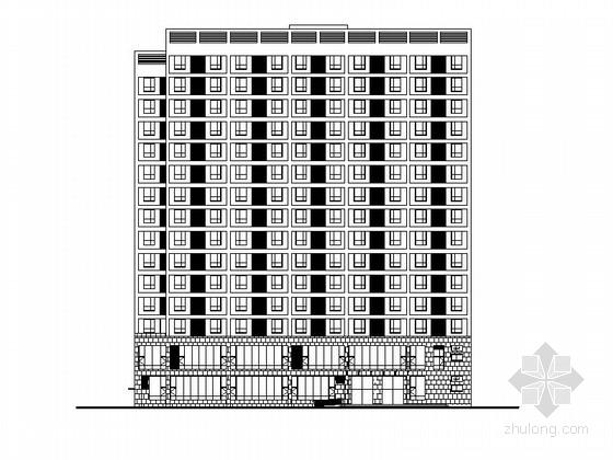 [南昌]高层框架结构酒店式公寓建筑施工图