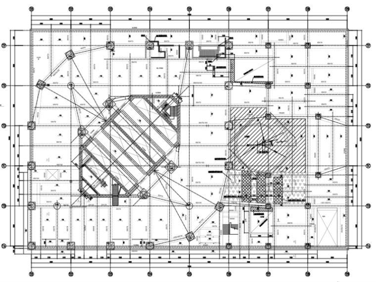 42层框筒塔楼+裙楼加固改造结构施工图2016