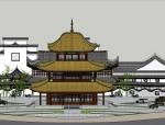 中式小岛古建筑会所模型(SU模型)