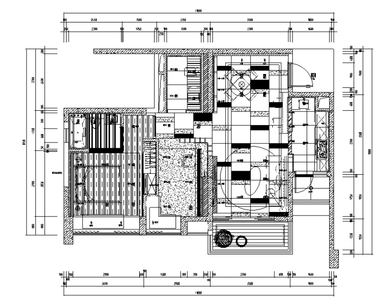 【四川】3套现代混合风格样板间设计案例_1
