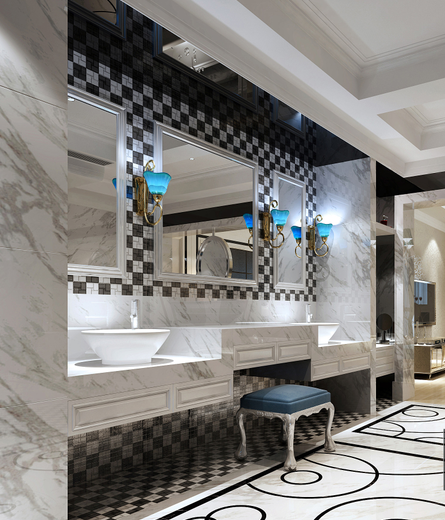 【山西】美式风格跃层公寓设计CAD施工图(含效果图)_6