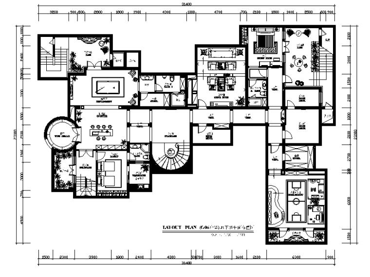 [杭州]顶级别墅设计CAD施工图(含效果图)