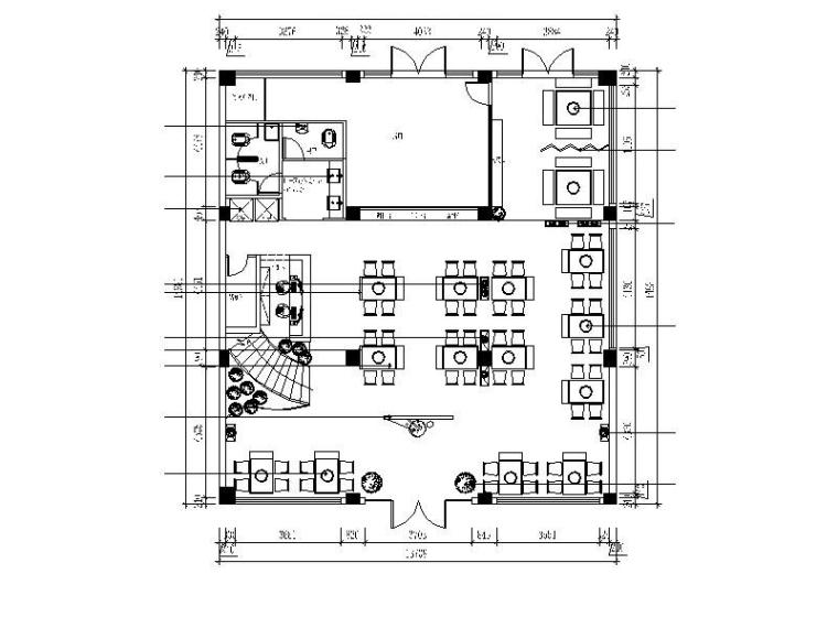 [安徽]古香古色中式火锅店设计施工图(含效果图)
