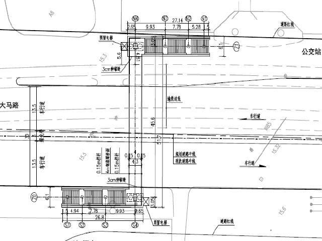 跨国道雨棚两侧挑臂单箱单室截面钢箱梁人行桥设计图66张(含照明排水)