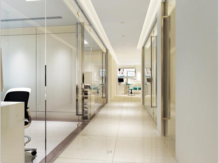 某口腔医院设计方案效果图(含3D模型)