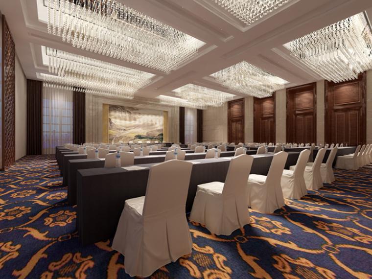 大型会议室3D模型下载