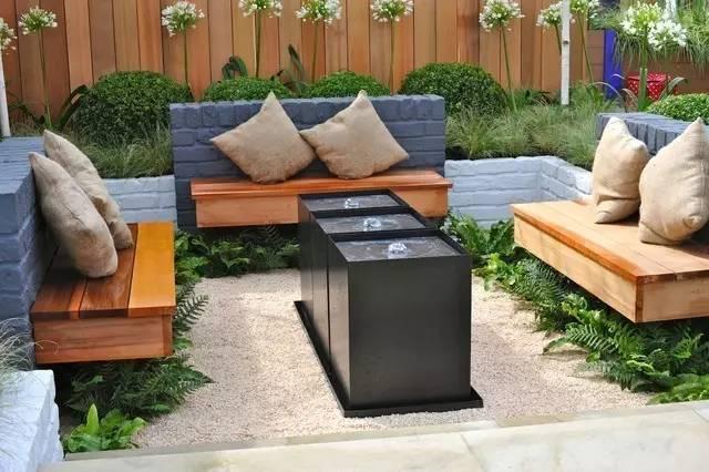 超级美的庭院景观座凳