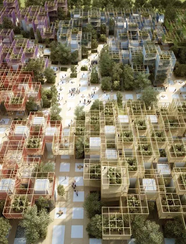 模块化构件搭建北京博园会大招,村庄的连接通向对未知的好奇