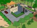 庭院景观模型分享给大家