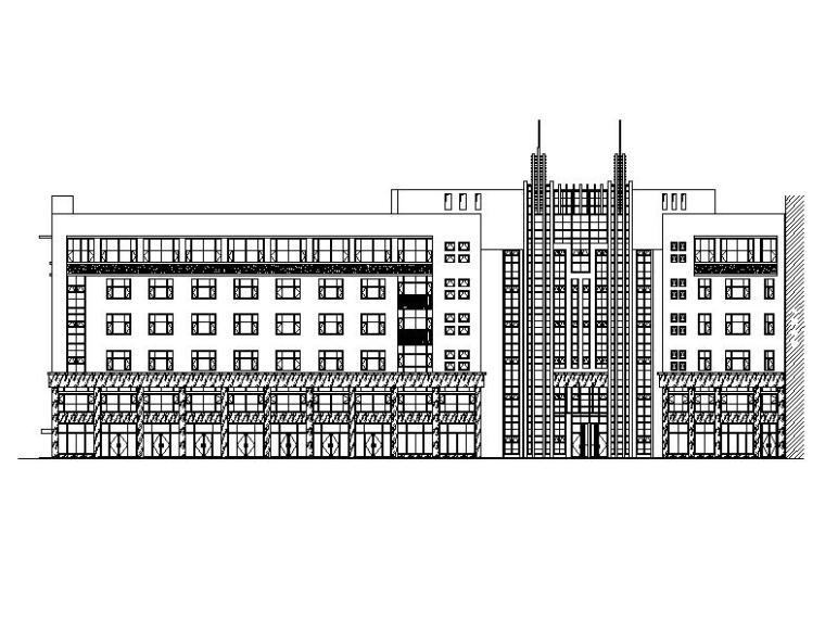 [宁夏]六层框架结构办公及商业综合体建筑施工图(含地下车库)