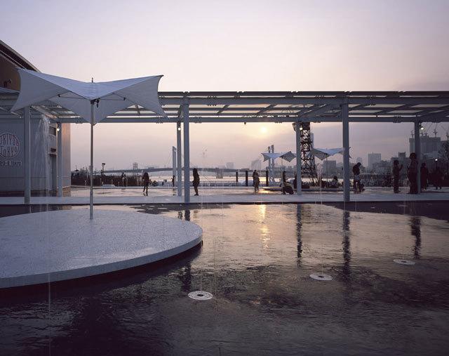 东京丰州LaLaport码头休闲区景观设计_9