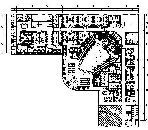 20110803铭濠酒店SPA二层平面布置图-布局1